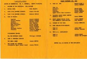 HSHS Presentation Night 1983